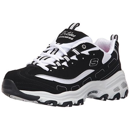 222be6e139de Skechers - Skechers Sport Women's D'lites Biggest Fan Fashion Sneaker, Biggest  Fan Black/White, 7.5 M US - Walmart.com