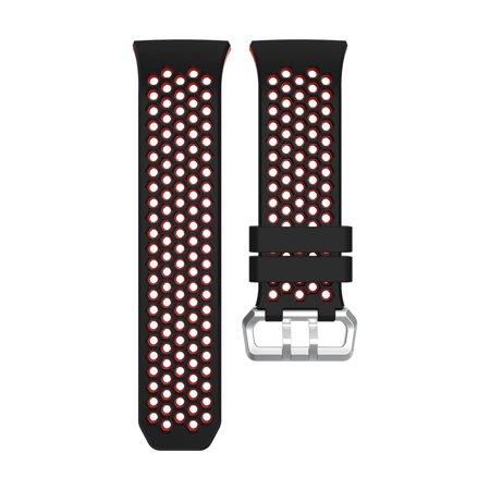 Lightweight Ventilate Silicone Perforated Accessory Sport Bands for Fitbit Ionic ()