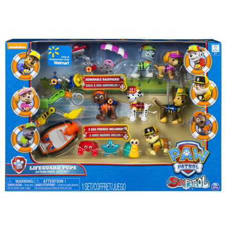 Paw Patrol Sea Patrol Lifeguard Pups Action Pack Gift Set, Exclusively Available At Walmart