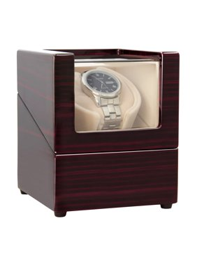 Single Watch Winder with Quiet Motor-12 Rotation Modes