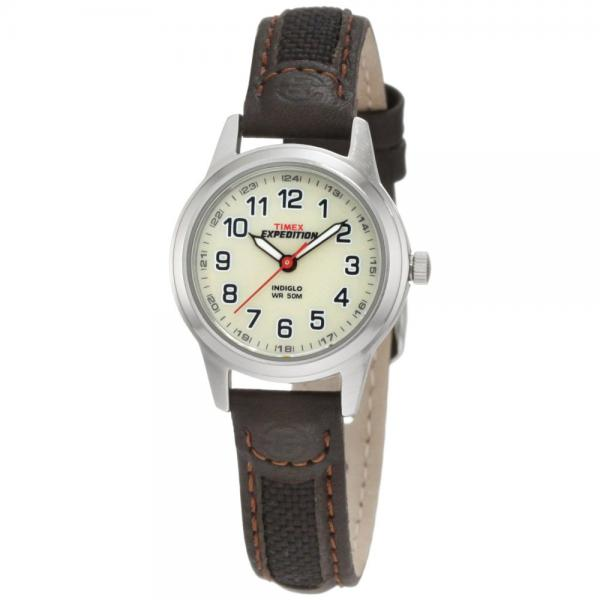 Timex Women's T41181 Expedition Silver-Tone Watch with Le...
