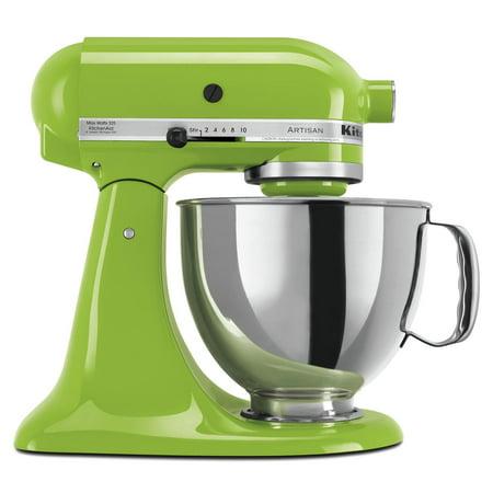KitchenAid KSM150PSGA Artisan Series 5 Quart Tilt-Head Stand Mixer, Green Apple, Closeout