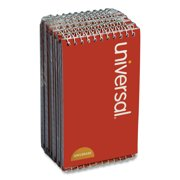 Universal Wirebound Memo Book, Narrow Rule, 3 x 5, White, 50 Sheets, 12/Pack -UNV20435