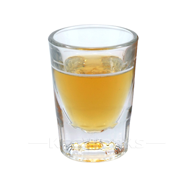 Anchor Hocking Whiskey Shot Glass 2 oz with 1 oz Cap Line by KegWorks