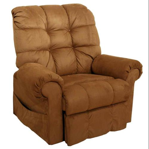 Omni Power Lift Full Lay-Out Chaise Recliner in Saddle
