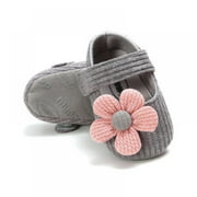 Newborn Baby Girls Mary Jane Flats Bowknot Ballerina Infant Toddler First Walkers Soft Sole Non-Slip Romper Pricess Dress Walking Shoes