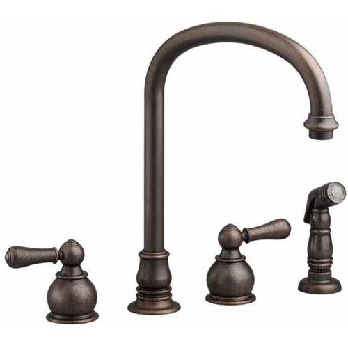 American Standard 4751.732.002 Hampton Bottom Mount 2.2 GPM Kitchen Faucet with Metal Lever Handles and Color Matched Hand Sprayer, Available in Various Colors