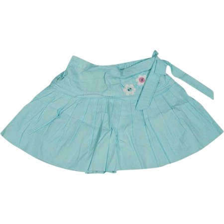 Wild Mango Toddler Girls Cotton Skirts Tie Dye and Pleated Sizes 2T - 4T, 7664 LIGHT BLUE / 2T ()