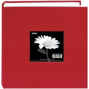 "Cloth Photo Album W/Frame 9""X9""-Apple Red"