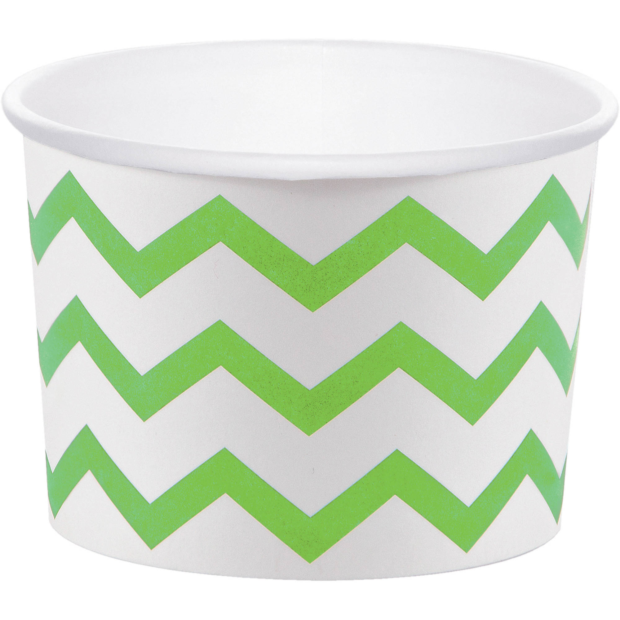 Fresh Lime Green Chevron Treat Cups, 6pk