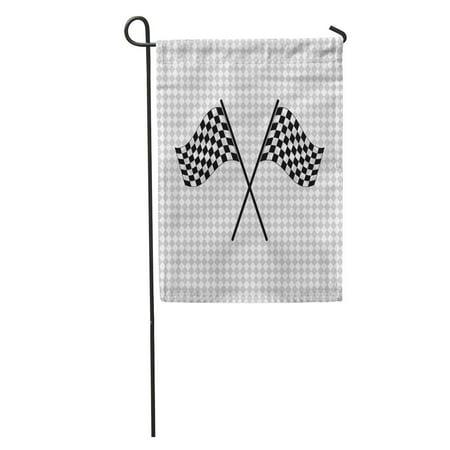 LADDKE Race Racing Flag Black Car Chequered Motor Cart Kart Goal Garden Flag Decorative Flag House Banner 12x18 inch](Race Car Checkered Flag)