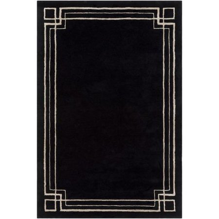 White Rug With Black Border Tyres2c