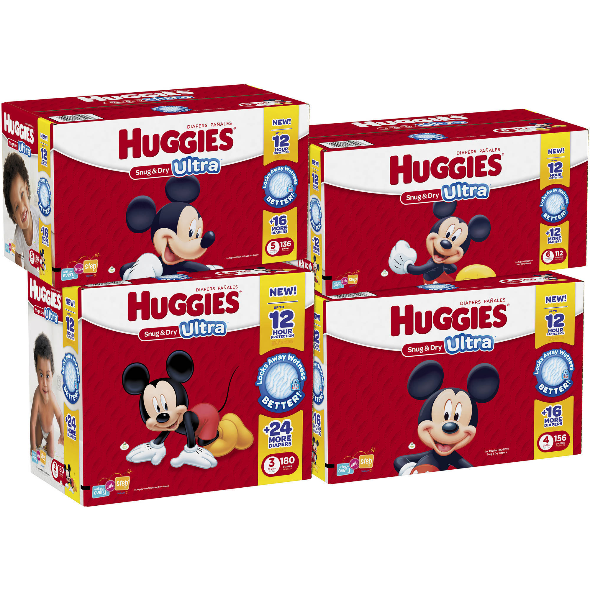 Huggies Snug & Dry Ultra Diapers, Giant Pack, Size 5, 136 ct