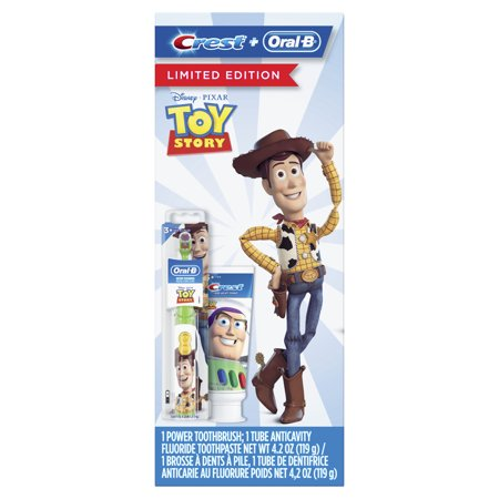 Crest & Oral-B Kids Gift Pack with Power Toothbrush and 4.2 oz Toothpaste featuring Disney Pixar Toy Story
