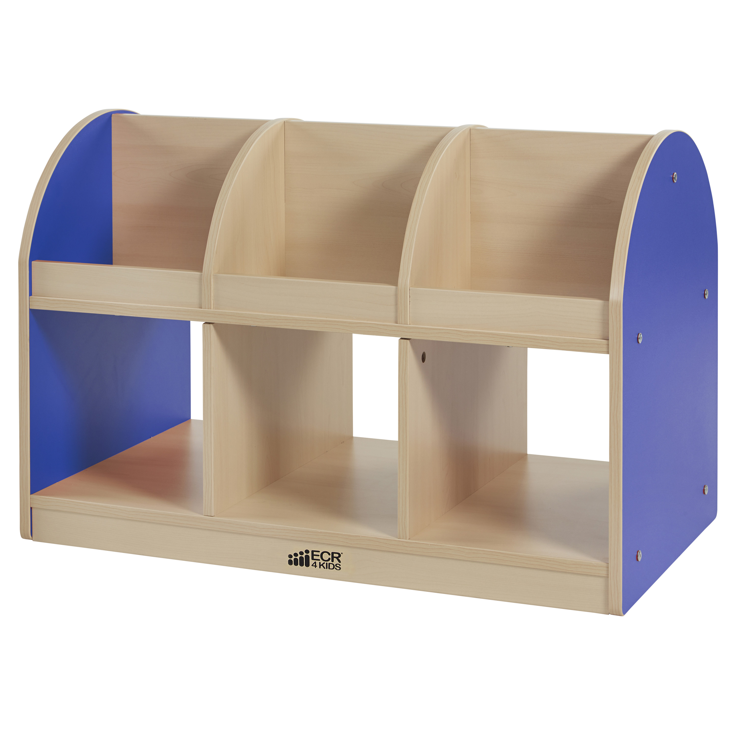 Colorful Essentials 2-Sided Toddler Book Stand - Maple/Blue