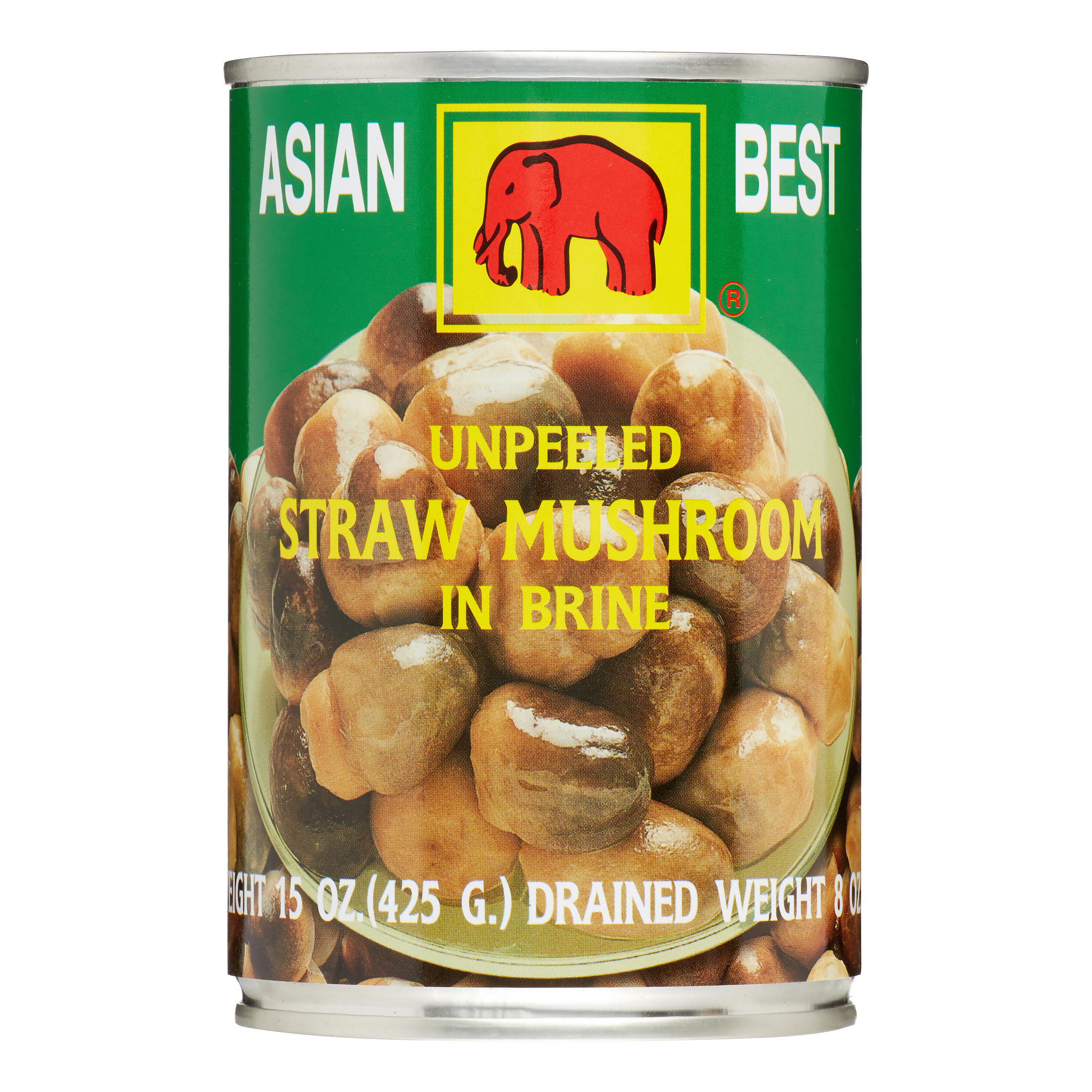 Asian Best Straw Mushroom, Unpeeled, 15.0 Oz by Asian Best
