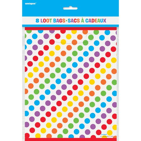 (4 Pack) Rainbow Birthday Favor Bags, 8pk