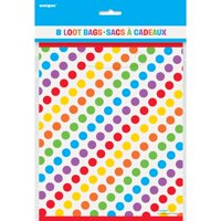 (4 Pack) Rainbow Birthday Favor Bags, 8pk