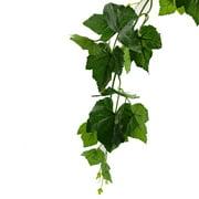 2m Length Green Plastic Vine Leaves Terrarium Plant for Reptiles and Amphibians