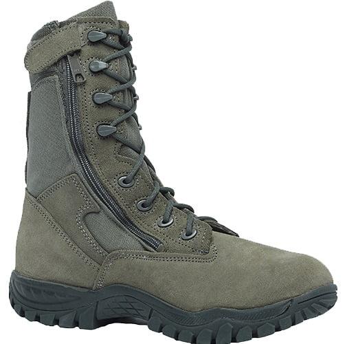 "Belleville 612ZST Men 8"" Hot Weather Side Zip Steel Toe Tactical Boot US Made EH Rated"