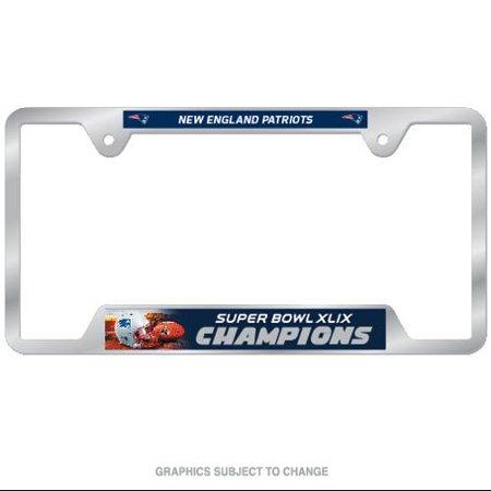 New England Patriots WinCraft Plastic Vintage License Plate