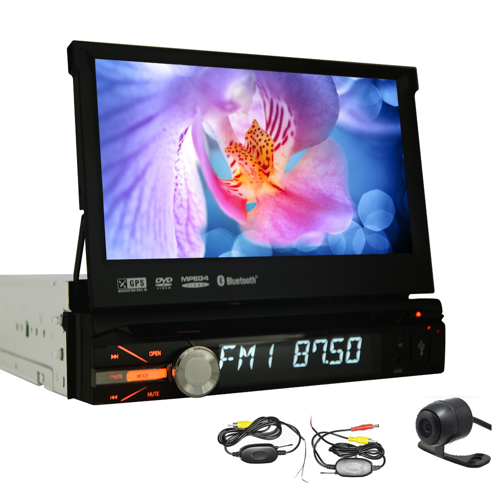 Wireless Backup Camera+7 Inch HD Touchscreen Car DVD Play...