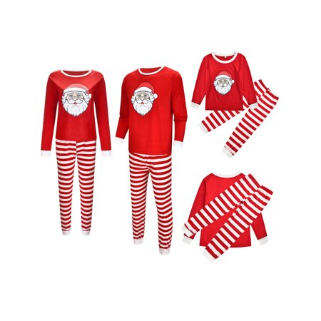 Family Matching Christmas Pajamas Set Men's Women Kids Sleepwear Nightwear