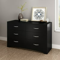 South Shore SoHo 6-Drawer Double Dresser, Multiple Finishes