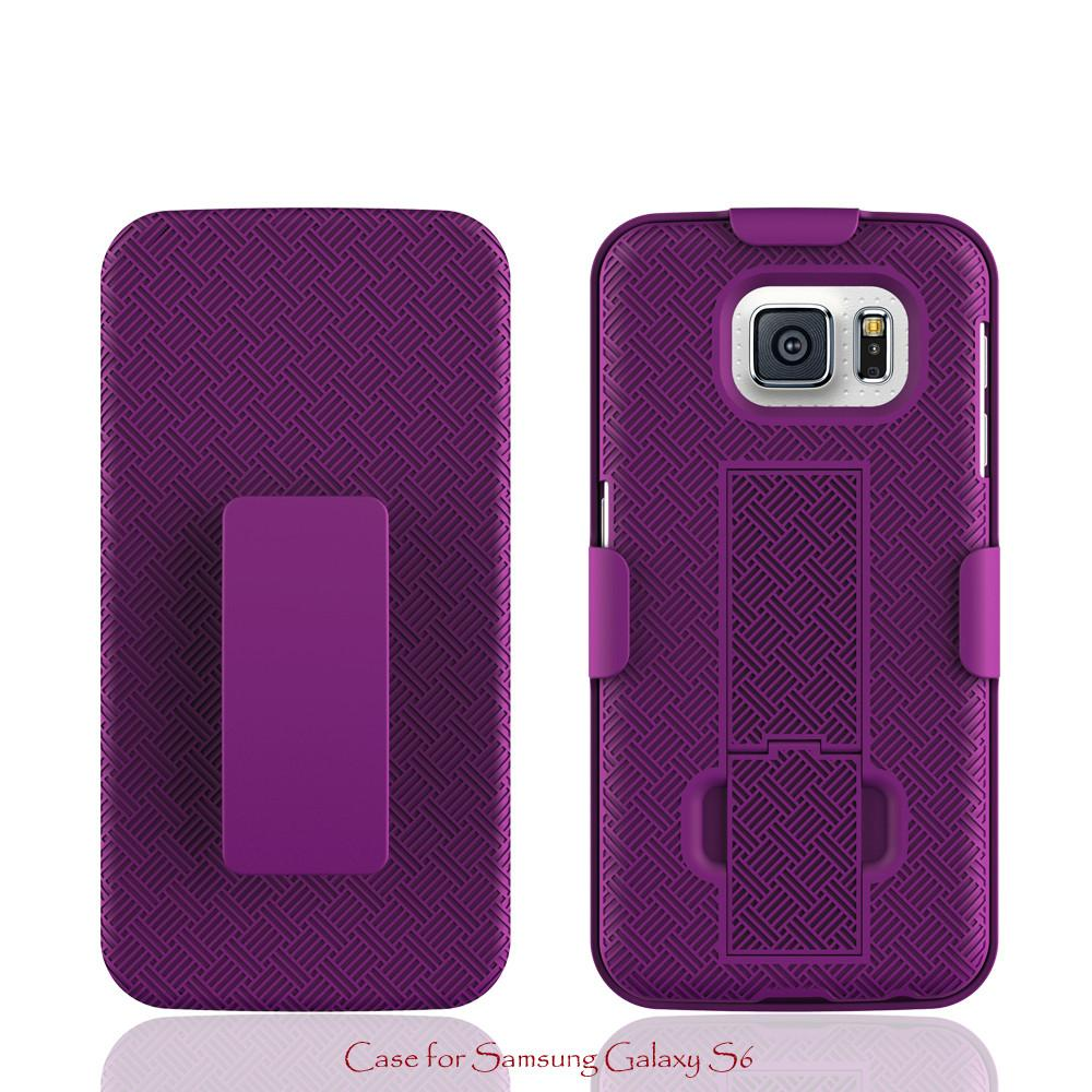 Samsung Galaxy S6 Case with Belt Clip Shell Holster Combo for Samsung Galaxy S6 - Purple