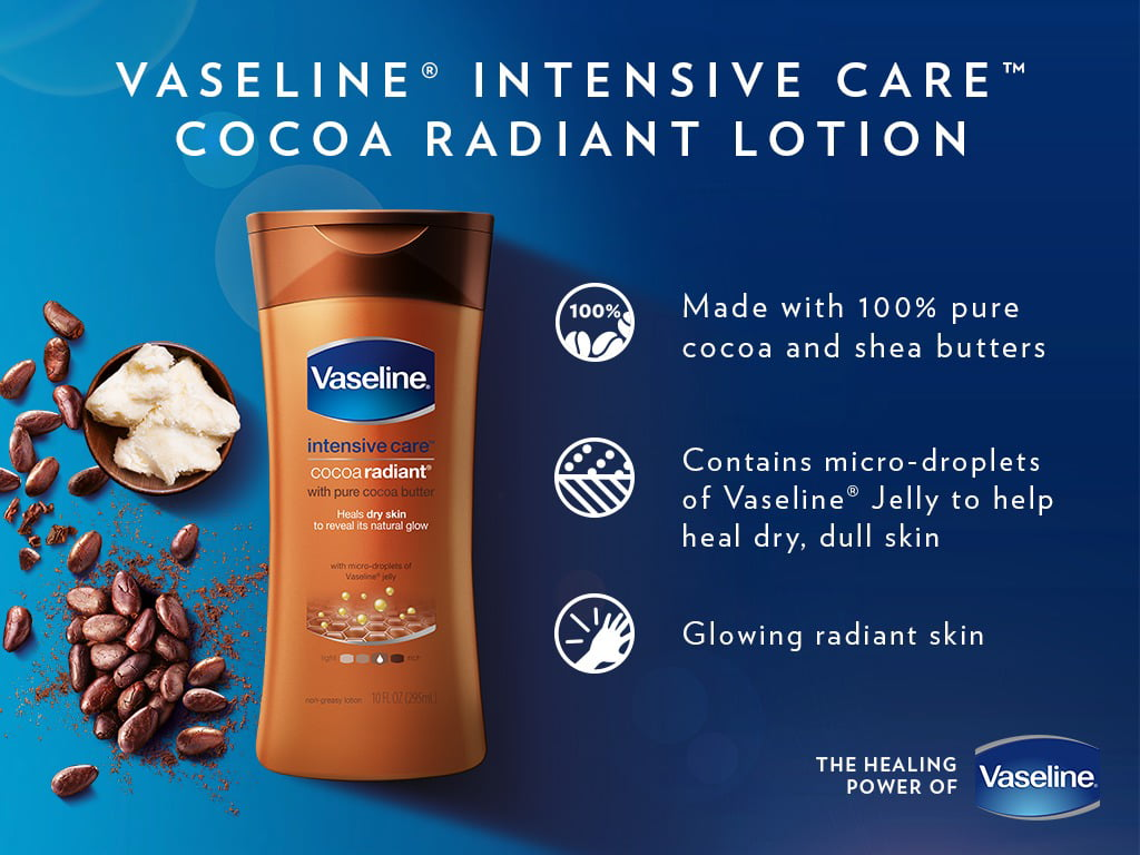 Vaseline Intensive Care Body Lotion Cocoa Radiant 10 Oz Advance Strength 400 Ml