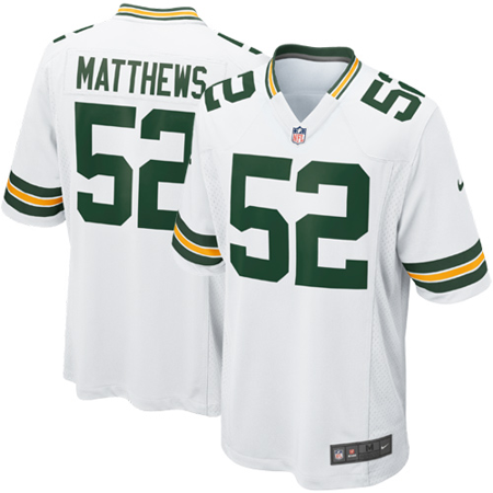 save off 8fb5d 3c17e Clay Matthews Green Bay Packers Nike Youth Game Jersey - White