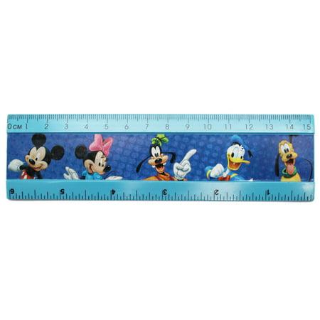 Disney's Mickey Minnie Donald Goofy and Pluto Kids Half Size Ruler (Mickey Minnie And Pluto Halloween Costumes)