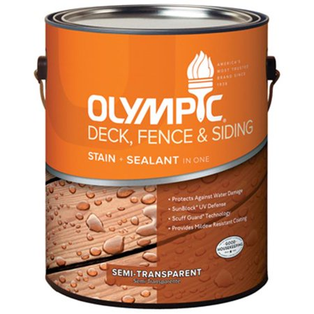 Olympic 58800A-01 Gallon Neutral Tint Base, Olympic Deck, Fence & Siding (Olympic Maximum Deck Fence And Siding Stain)