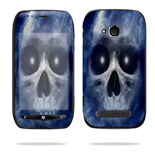 Mightyskins Protective Vinyl Skin Decal Cover for Nokia Lumia 710 4G Windows Phone T-Mobile Cell Phone wrap sticker skins Haunted Skull