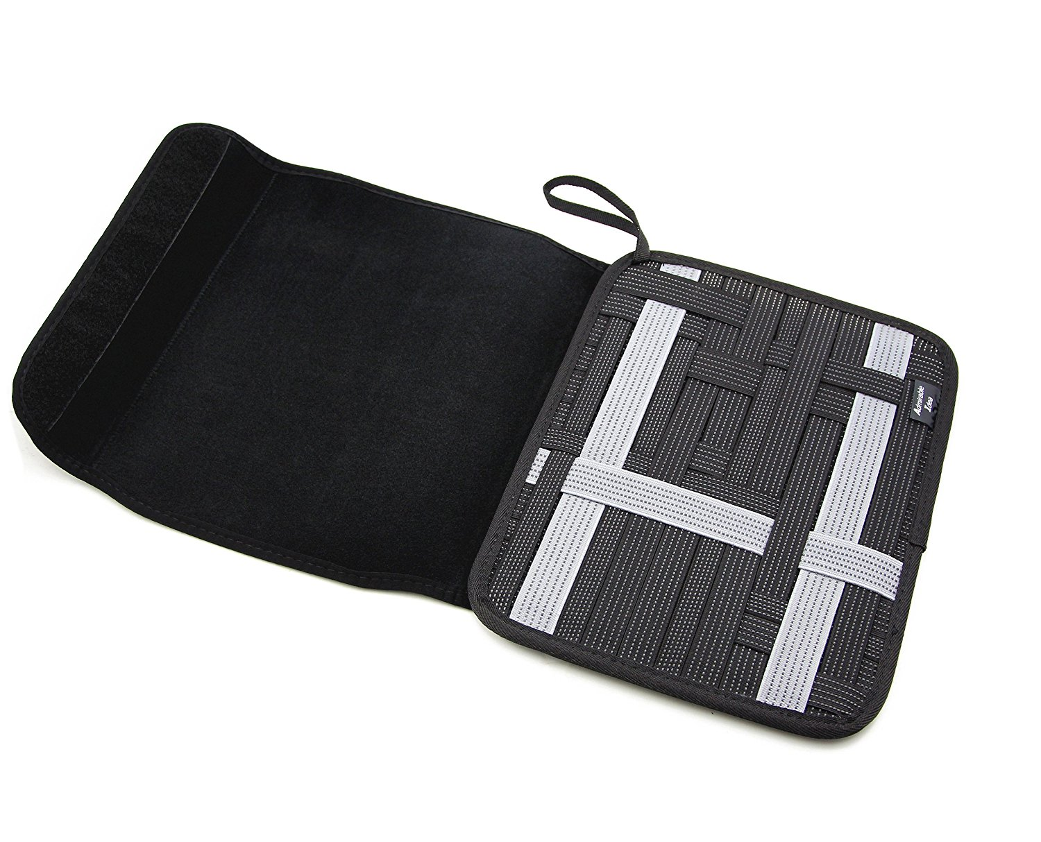Admirable Idea Travel Cable Organizer Board with Sleeve Pouch for iPad,Electronic Organizer Management for... by Admirable Idea