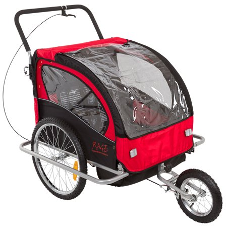 2-in-1 Bicycle Trailer & Stroller with Brakes - Walmart.com