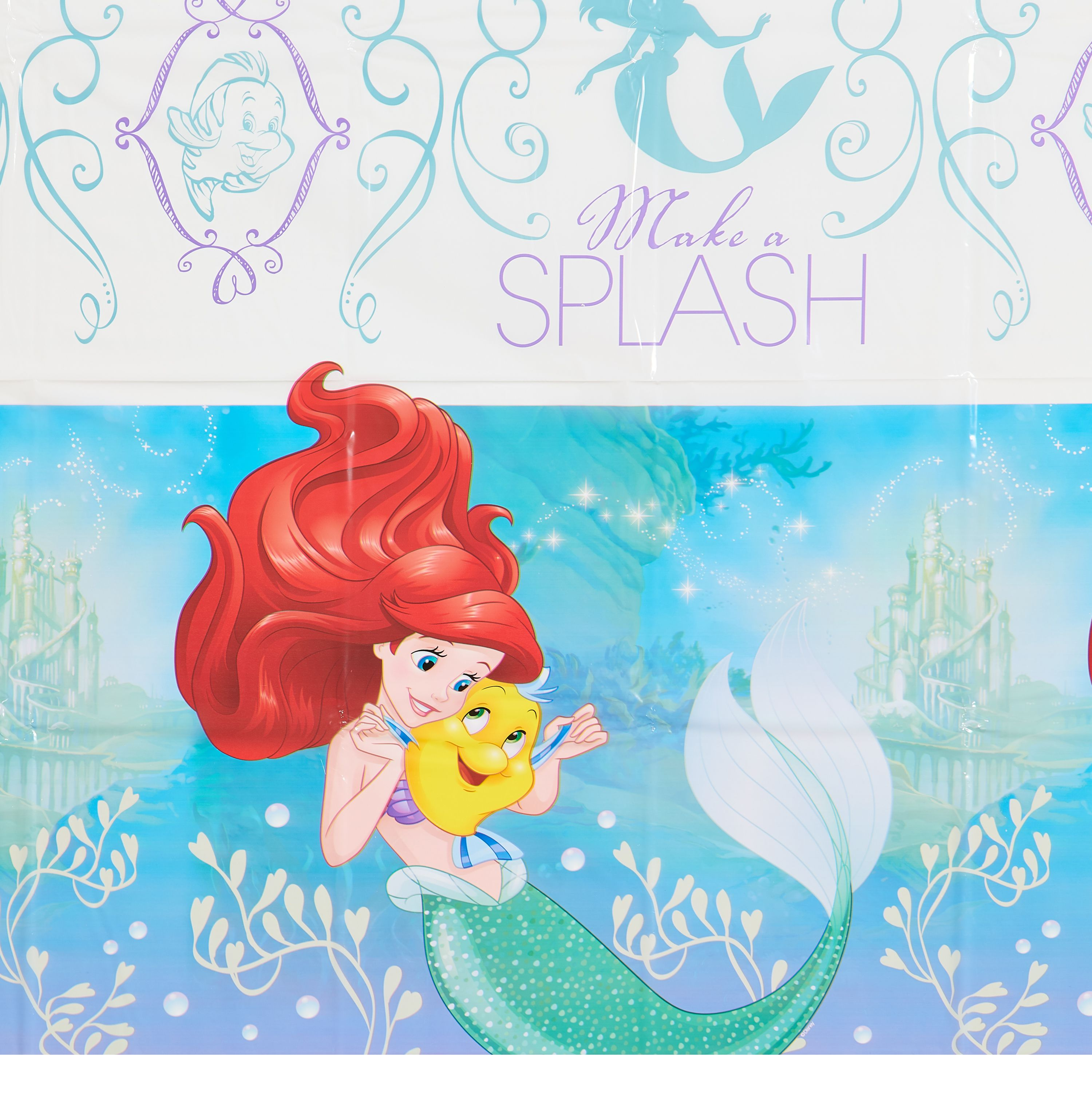 """The Little Mermaid Ariel Dream Big Party Plastic Table Cover, 54"""" x 96"""""""