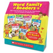 Scholastic Word Family Readers Set, 80 Books/16 Pages and Teaching Guide, Grades K-2