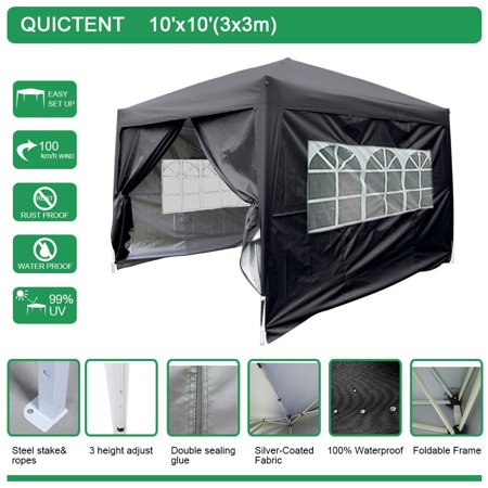 Limited Salesquictent Silvox Waterproof 10x10 Ez Pop Up Canopy