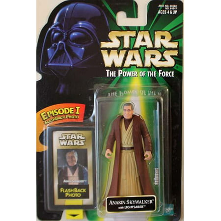 Power of the Force Flashback - Anakin Skywalker w/Lightsaber New Condition!](Anakin's Blue Lightsaber)