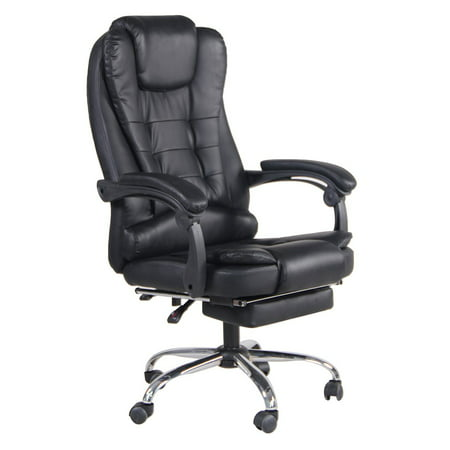 PU Leather Executive Ergonomic Game Chair With Footrest Computer Lounge Chair