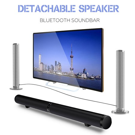Generic 50W HiFi Detachable Wireless bluetooth Soundbar Speaker Stereo Subwoofer Home Theatre System Sound Bar for TV Notebook Smartphone Tablet