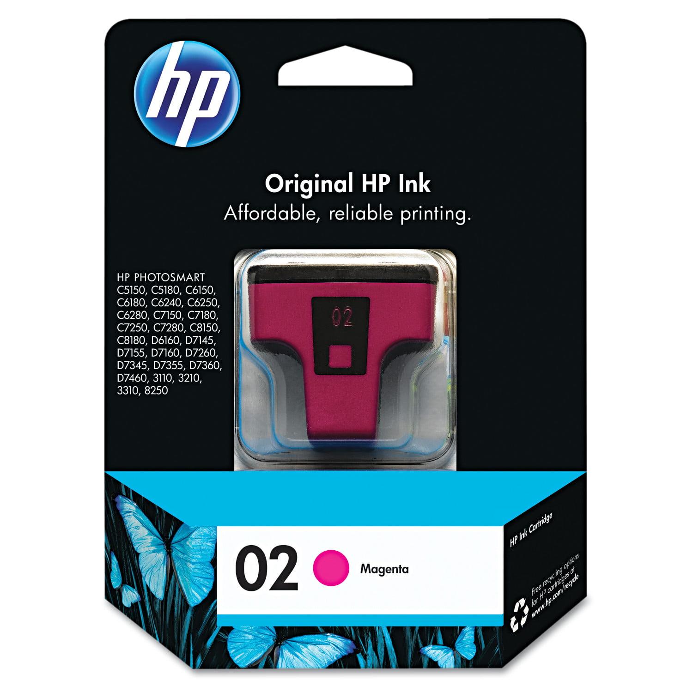 HP 02, (C8772WN) Magenta Original Ink Cartridge