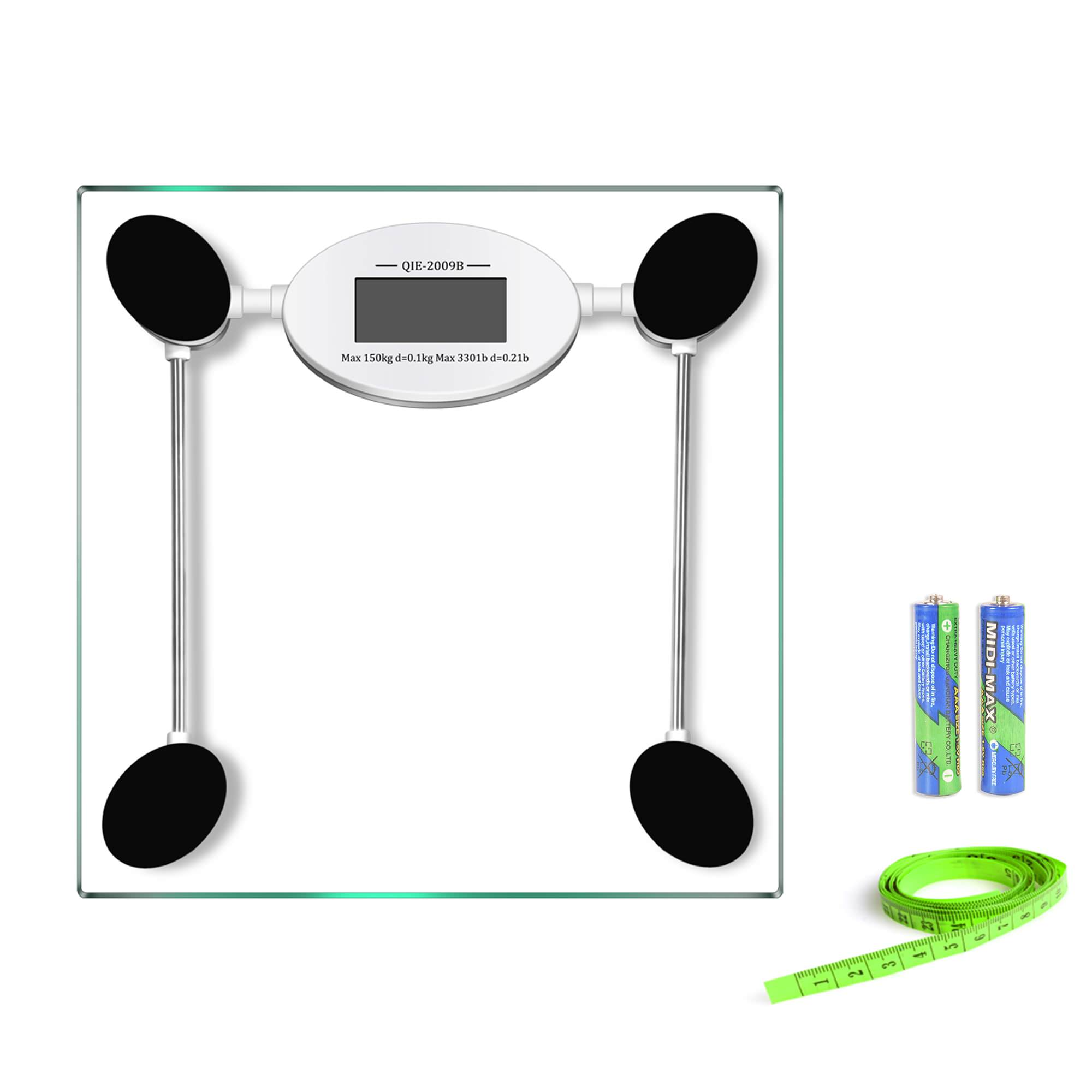 Delicieux Glass Digital Bathroom Scale, Body Weight Scale  6mm Glass Platform, 330  Pounds/