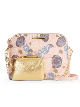 bd1afc07e89 Product Image Women's Blush Floral Half Moon Crossbody