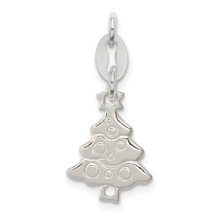ICE CARATS 925 Sterling Silver Christmas Tree Pendant Charm Necklace Holiday Fine Jewelry Ideal Gifts For Women Gift Set From Heart - Christmas Jewelry Ideas