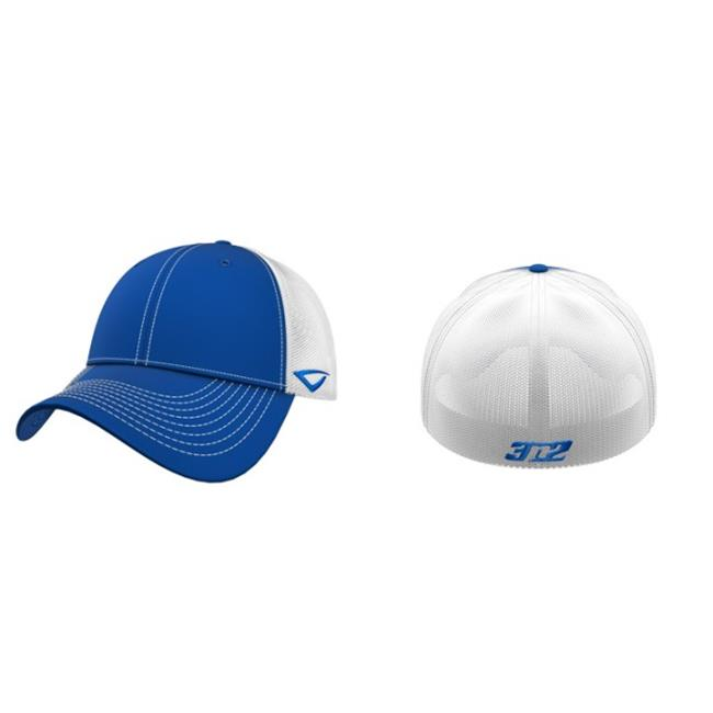3N2 3651-3506-Y Flex-Fit Team Trucker Cap, Red And White - Young - image 1 de 1