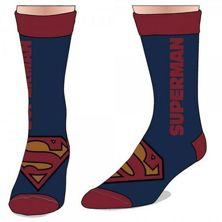 Crew Sock - Marvel - - Text Logo Toys Anime Licensed cr23w4spm - Super Man Socks