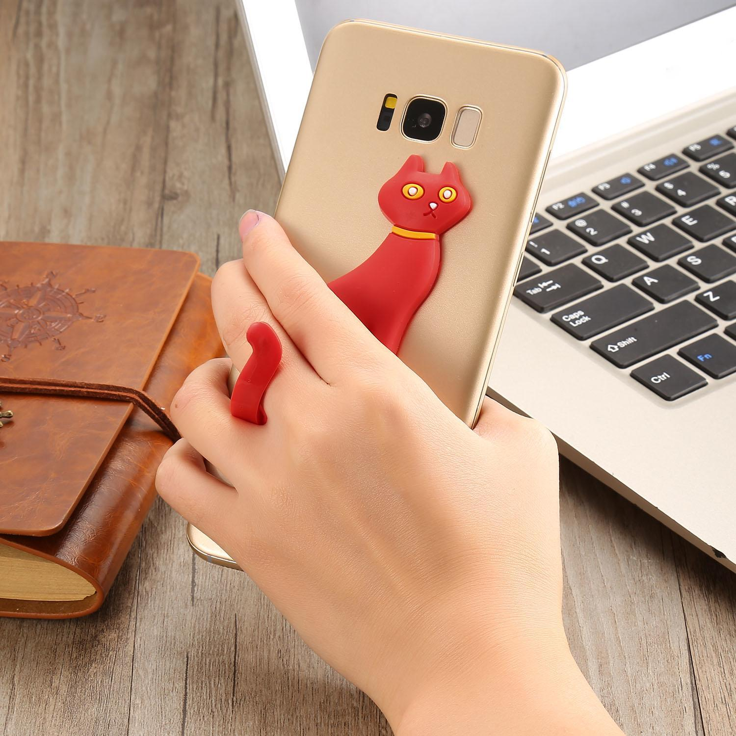 Cute Cat Silicone Phone Stand Mount Holder Stent Caroj - image 1 of 5