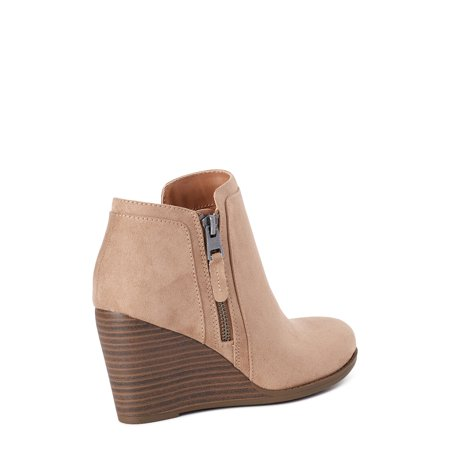 Time and Tru Wedge Bootie (Women's) (Wide Width Available)